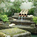 An ashiyu water feature